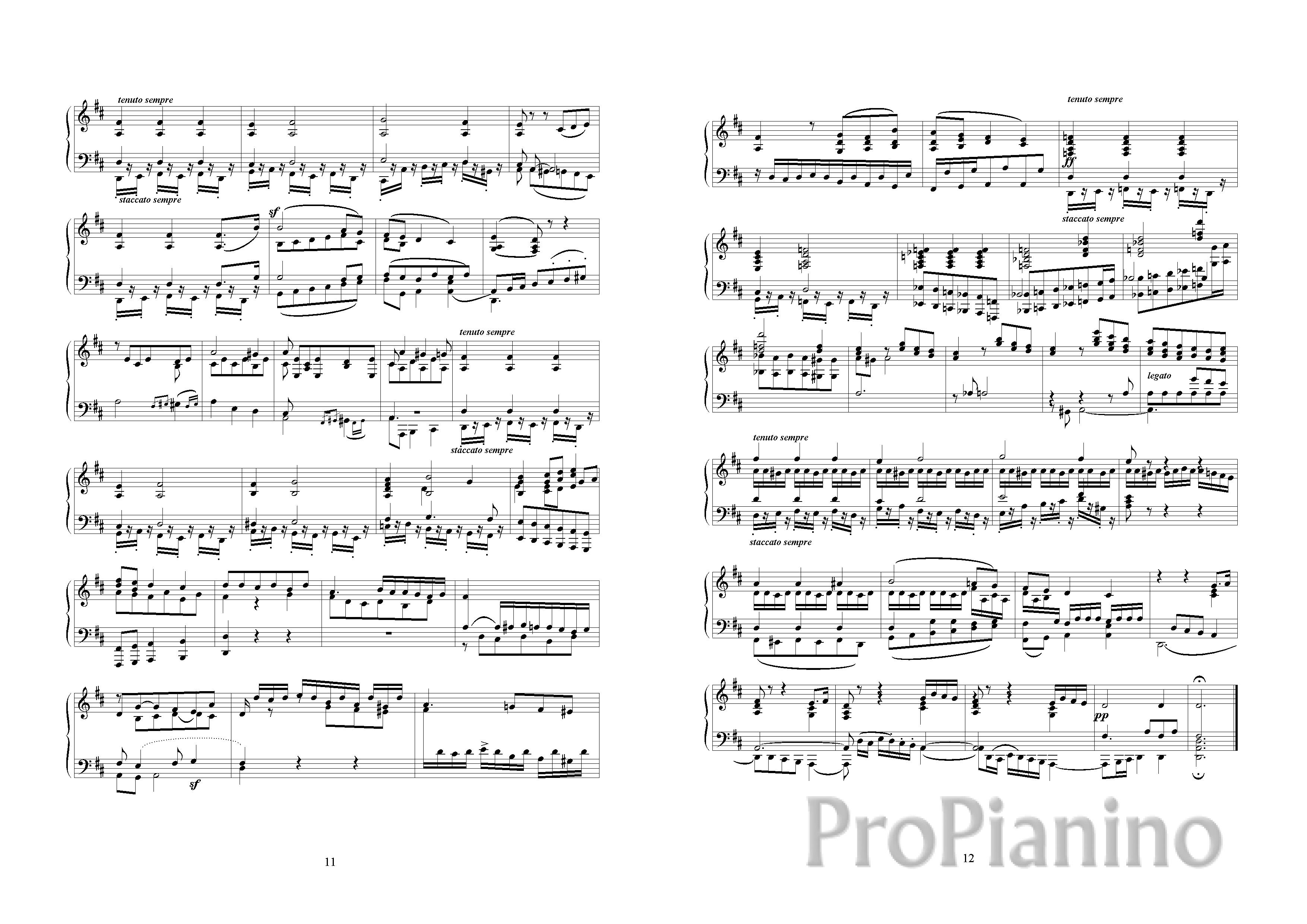 Бетховен Соната 5 Ноты