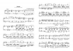 Ноты Сонаты №6 op.10 Л. Бетховена_01