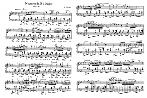 Ноктюрн Ми бемоль мажор op. 9 №2 Ф. Шопена: ноты