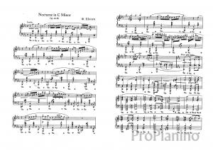 Ноктюрн До минор op. 48 №1 Ф. Шопена: ноты