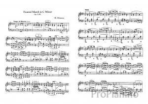 Похоронный марш До-минор Op. 72 №2 Ф. Шопена: ноты