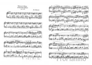 Вальс Ля-минор op. 34 №2 Ф. Шопен: ноты