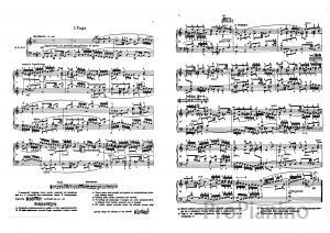 Фуга №1 (До-мажор), BWV 846 И. Бах: ноты