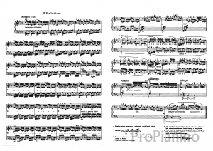 Прелюдия №2 (До-минор), BWV 847 И. Бах: ноты
