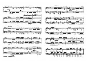 Фуга №3 (До диез-мажор) BWV 848 И.С. Бах: ноты