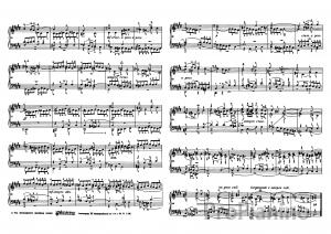 Фуга №4 (До диез-минор) BWV 849 И.С. Бах: ноты