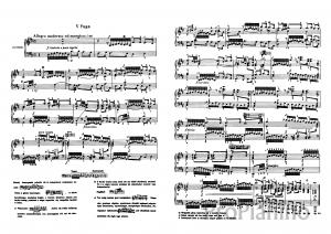 Фуга №5 (Ре-мажор) BWV 850 И.С. Бах: ноты