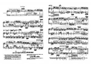 Фуга №6 (Ре-минор) BWV 851 И.С. Бах: ноты