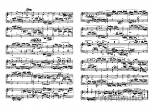 Прелюдия №7 (Ми бемоль-мажор) BWV 852 И.С. Бах: ноты