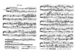 Фуга №8 (Ми бемоль-минор) BWV 853 И.С. Бах: ноты