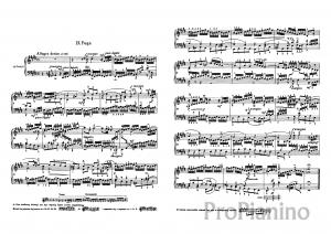 Фуга №9 (Ми-мажор) BWV 854 И.С. Бах: ноты