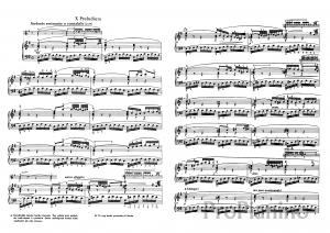 Прелюдия №10 (Ми-минор) BWV 855 И.С. Бах: ноты