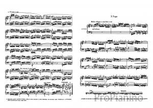 Фуга №10 (Ми-минор) BWV 855 И.С. Бах: ноты