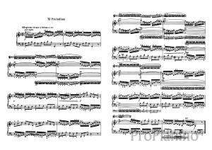 Прелюдия №11 (Фа-мажор) BWV 856 И.С. Бах: ноты