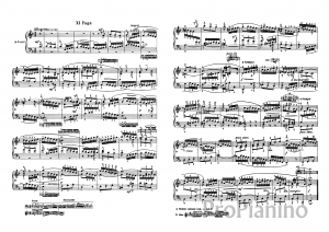 Фуга №11 (Фа-мажор) BWV 856 И.С. Бах: ноты