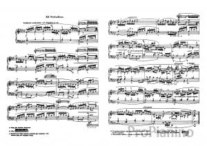 Прелюдия №12 (Фа-минор) BWV 857 И.С. Бах: ноты