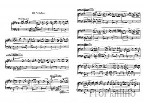 Прелюдия №13 (Фа диез-мажор) BWV 858 И.С. Бах: ноты
