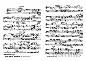 Фуга №13 (Фа диез-мажор) BWV 858 И.С. Бах: ноты