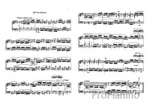 Прелюдия №14 (Фа диез-минор) BWV 859 И.С. Бах: ноты