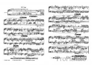 Фуга №14 (Фа диез-минор) BWV 859 И.С. Бах: ноты
