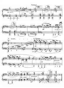 Этюд №10 Противоположение звучностей К. Дебюсси: ноты