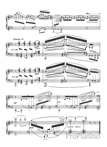 Этюд №11 Сложные арпеджио К. Дебюсси: ноты