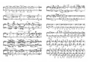 Этюд №12 Аккорды К. Дебюсси: ноты