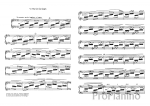 Этюд №6 Этюд для восьми пальцев К. Дебюсси: ноты