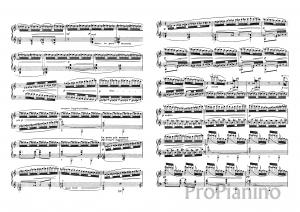 Этюд №7 Хроматические последования К. Дебюсси: ноты