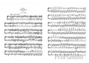Экспромт №1 опус 90 (до-минор) Р. Шуберт: ноты