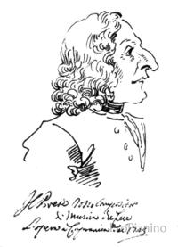 Карикатура на Вивальди