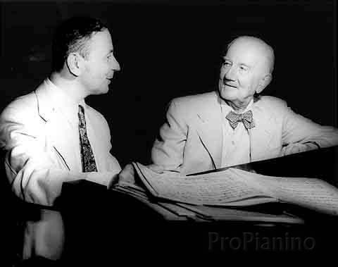 Пианист Э. Килений младший и его учитель Э. фон Донаньи