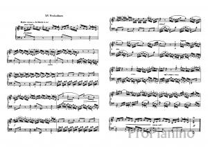 Прелюдия №15 (Соль мажор) BWV 860 И.С. Бах: ноты