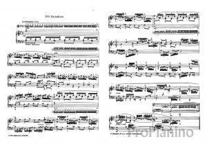 Прелюдия №16 (Соль-минор) BWV 861 И.С. Бах: ноты