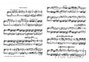 Прелюдия №17 (Ля бемоль мажор) И.С. Баха: ноты