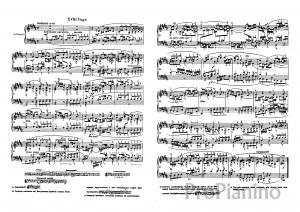 Фуга №18 (Соль диез минор) ХТК 1 И.С. Бах: ноты