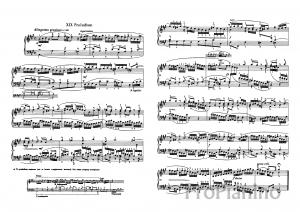 Прелюдия №19 (Ля мажор) ХТК 1 том И.С. Бах: ноты