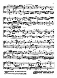 Фуга №19 (Ля мажор) ХТК 1 том И.С. Бах: ноты