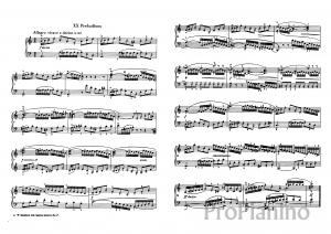 Прелюдия №20 (Ля минор) BWV 865 ХТК 1 И.С. Бах: ноты