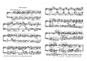 Прелюдия №22 (Си бемоль минор) ХТК 1И.С. Бах: ноты