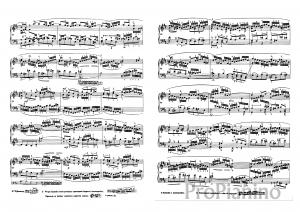 Фуга №24 (Си минор) ХТК 1 И.С. Бах: ноты