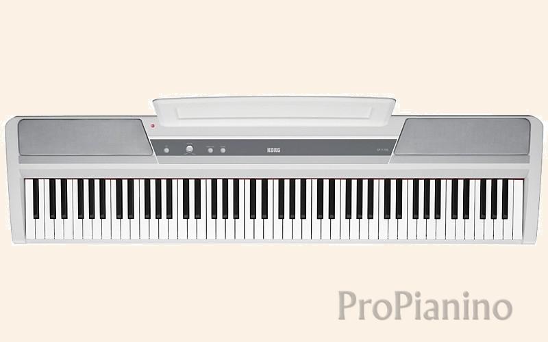 Белое цифровое пианино Korg SP-170