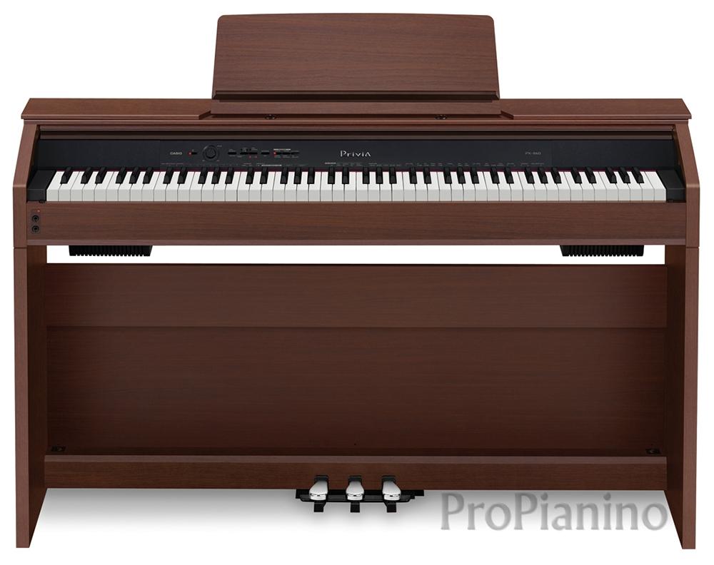 Коричневого цвета цифровое пианино Casio Privia PX-860