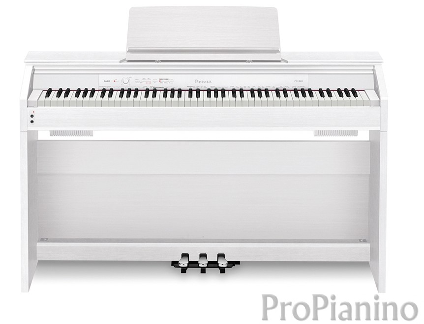 Вид спереди пианино Casio Privia PX-860