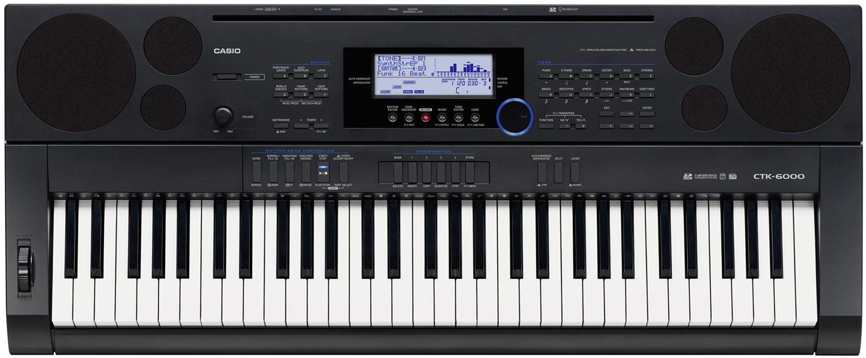 Крупный план синтезатора Casio СТК-6000