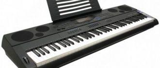 Черное пианино Casio wk 6500