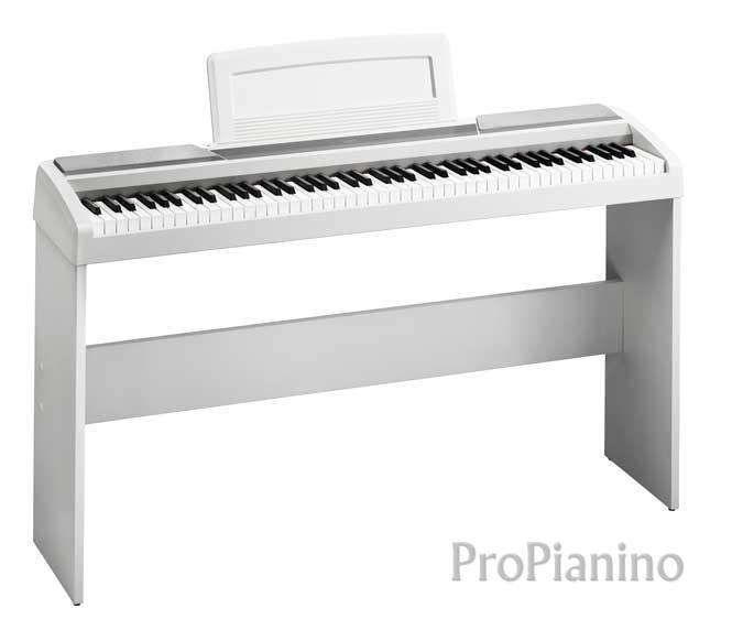 Цифровое пианино белого цвета korg sp170
