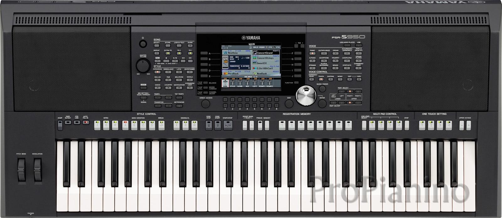 Приближенный вид синтезатора Yamaha PSR-S950