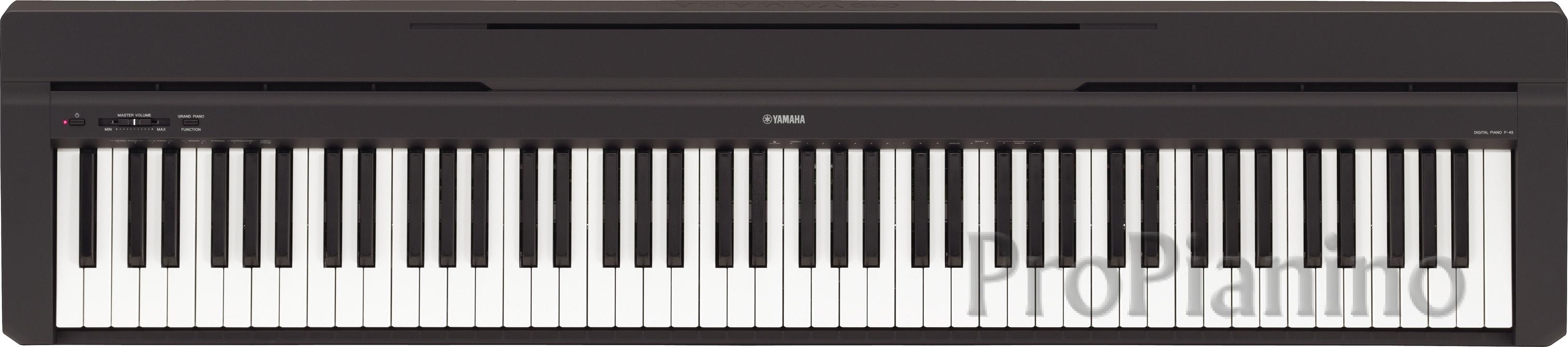 Цифровое пианино Yamaha P-45 по доступной цене