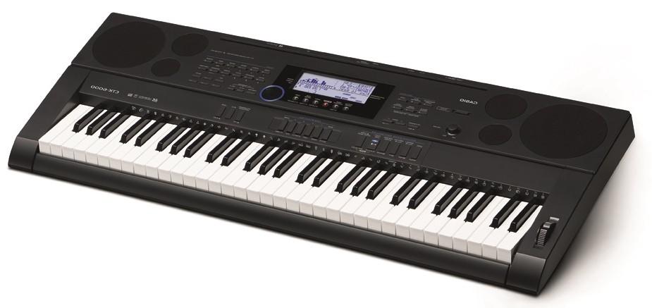 Диагональный вид спереди синтезатора Casio СТК-6000